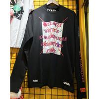 Wholesale class printing online - Men Women Environmentalist Heron Preston T shirts Streetwear Hip Hop Embroidery Business Class Heron Preston Long sleeve T Shirt
