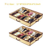 Storage Bags Newest Arrivals Home 12 Pocket Under Bed Foldable Shoe Box Container Organizer Holder Factory price expert design Quality Latest Style Original
