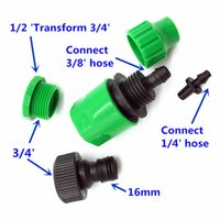 """Wholesale Water Quick Connector - tools pottery 10 Pcs Garden Tools Drip Watering Quick Connector Set G3   4 """"and G1   2"""" Connector And 4 7 Mm"""