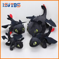 Wholesale 23 cm Anime How to Train Your Dragon plush toys Toothless plush Night Fury Plush stuffed animal doll toy Christmas kids gift