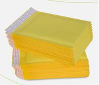 envelopes x venda por atacado-5.1 * 6.6 polegadas 130 * 170mm + 40mm Kraft Bubble Mailers Envelopes Envoltório Sacos Acolchoados Envelope Malote De Embalagem De Correio Para Iphone X 8 7 + S9 CASE telefone celular