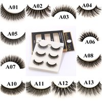 Wholesale stage eyelashes for sale - Group buy 20 Styles False Eyelashes D Mink Eyelashes Natural Crisscross Soft Multilayer Fake Eyelashes Stage Eye Makeup Lashes