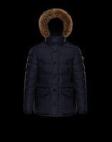 ingrosso blu navy giù cappotti-Cappotto invernale / giacca Parka blu scuro del rivestimento del piumino di CLUNY degli uomini di vendita di arrivo del nuovo arrivo del nero di 2018 Francia con trasporto libero in linea