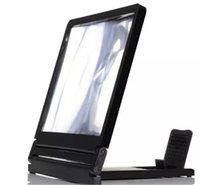 усилители оптовых-Складной портативный мобильный телефон экран лупа HD расширитель стенд держатель для смартфона лупа стеклянный экран HD усилитель LLFA
