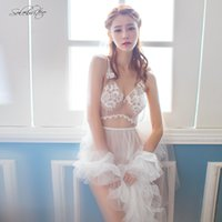 Wholesale adult gowns for sale - Group buy Selebritee Womens Sexy Costumes Bride Lace Wedding Party Dress Veil Bridal Gowns Thong Adults Costume Backless Nightwear V nevk
