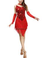Wholesale clothing worn latin dances resale online - Retro Roaring s Bling Fringe Flapper Clothes Costumes Dresses Sparkly s Deep V Neck Tassel Flapper Dance Dress Costume Wear
