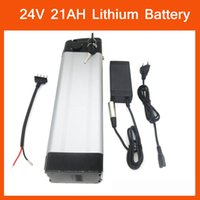 Wholesale 24v electric bikes battery - Bottom discharge Rechargeable 500W Lithium 24V 21AH Electric Bike Battery Use for ICR18650-30B cell with 30A BMS 29.4V 3A charger