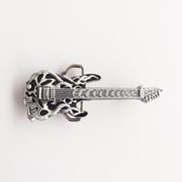 New Vintage Black Enamel Tattoo Skull Guitar Music Belt Buckle  Gurtelschnalle Boucle de ceinture BUCKLE-MU024BK Brand New Free Shipping 79188d9a90a