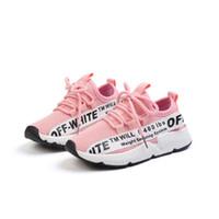 erkek kızlar gündelik beyaz ayakkabılar toptan satış-Çocuk Koşuyoruz Ayakkabı Rahat Ayakkabı Erkek Kız Spor Ayakkabı Çocuklar Siyah Pembe Beyaz Öğrenci Ayakkabı Paten Ayakkabı Sonbahar 2018