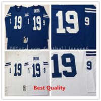 Wholesale Cheap American Football Shirts - NCAA Throwback Johnny Unitas jerseys American football shirts Retro mens cheap white blue color cheap wears College uniform Retired player
