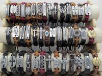 Wholesale bracelets mix order for sale - Group buy Brand New Handmade Genuine Leather Bracelets Vintage Men s Women s Leather Wristband Surfer Bracelets Stylish Xmas Gifts Mix Order