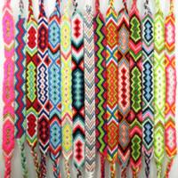 seil armband benutzerdefinierten charme großhandel-AMIU Handmade Armband Benutzerdefinierte Baumwolle Wrap Beliebte Woven Seil String Freundschaft Armbänder Für Frauen Männer Dropshipping Armband