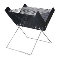 Wholesale Camp Ovens - Barbecue Grills Stainless Steel Outdoor Foldable Camping BBQ Portable Cooking Travel Ultralight Oven Rack Tools 29*27*30cm
