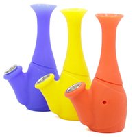 Wholesale Cheap Vases Flowers - colorful Silicone Water bongs Silicone dry herb tobacco blunt pipe Flower Vase Cheap Bubblers With Replacement Screen