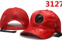 Wholesale red lk snapback hat resale online - New Arrival Golf Curved Visor hats Los Angeles Vintage red LK Snapback cap Men Casquette dad hat high quality bone Adjustable Baseball Caps