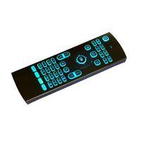 android клавиатура лазер оптовых-2018 Новый 2.4 ГГц MX3 Fly Air Mouse лазерные клавиатуры Qwerty беспроводной пульт дистанционного управления для Android TV Box 7 RGB цвета подсветки клавиатуры