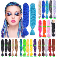 Wholesale expressions hair extensions for sale - Group buy 1Piece g Synthetic Braiding Hair Extensions Crochet Hair For Braids Expression Jumbo Braiding Hair Bulks for Black Women