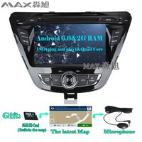 Wholesale Hyundai Elantra Car Dvd - Android 6.0 2G RAM Car DVD Player Hyundai Elantra 2013 2014 2015 with gps navigation Radio BT swc map 4G WIFI