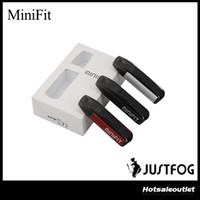 Wholesale vaping kits - Authentic JUSTFOG MINIFIT Starter Kit 370mAh All-in-one Vape Kit with MINI FIT Battery Compact Pod Vaping Device 100% Original