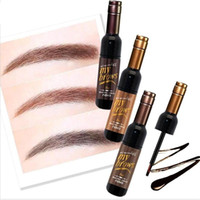 Wholesale red eye tattoo - NOVO Brand Eye Makeup Red Wine Eye Brow Tattoo Tint Long-lasting Waterproof Eyebrow Gel Cream Mascara Make Up Cosmetics Wholesale 2801070