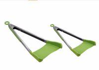 ingrosso set di bastoni da cucina-Spatola intelligente Tong 2-in-1 cucina spatola in silicone pinze antiaderente resistente al calore cucina helper telaio da cucina pinze strumenti 100 set OOA4861