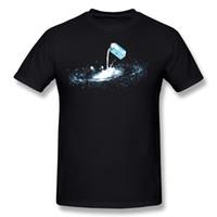 kragenhemden rabatt großhandel-Discount Homme 100% Baumwolle Die Milchstraße T Shirts Homme Runder Kragen Carbon Kurzarmshirts Bluse Große Größe Lässige T-Shirts