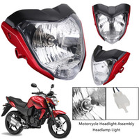 Wholesale headlamp assemblies resale online - Motorcycle Headlight Assembly Headlamp Light House New Red Fit for Yamaha FZ16 YS150 FZER150