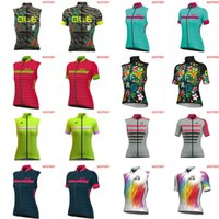 Wholesale team cycling vests - Wholesale-ALE team Cycling Short Sleeves Sleeveless jersey Vest thin summer Style For women Road Racing Clothes D0815