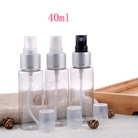 Wholesale bottles spray nozzle resale online - ml X transparent perfume plastic cosmetic bottles with silver aluminum spray pump cosmetic container nozzle