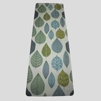 colchonetas de yoga de tela al por mayor-Nueva 183 cm * 61 cm * 5 mm Caucho natural Absorber el sudor Cómodo tela de gamuza antideslizante Perder ejercicio Estera de yoga