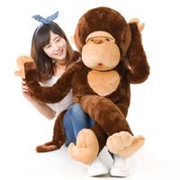 ingrosso bambole giganti di scimmie-Dorimytrader Simpatico Animale Gorilla Peluche Bambola Giocattolo Gigante a braccio lungo scimmia Abbraccio Bambole Scimmia Cuscino per Bambini Giocattoli Regalo Di Compleanno DY50523