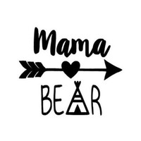 Wholesale funny car sale online - Hot Sale Mama Bear Funny Car Sticker For Truck Window Bumper Auto SUV Door Kayak Vinyl Decal