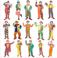 circus costume al por mayor-Halloween Christmas Circus Payaso Traje de Cosplay Traje Adulto Performanc Payaso Carnaval Chapeau Trajes de Circo Uniformes KKA5688