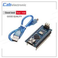 Wholesale Arduino Board Usb - Nano 3.0 Mini USB Driver ATmega328 5V 16M Micro Controller Board Nano CH340 V3.0 For Arduino With Usb Cable