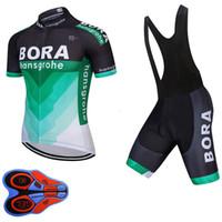 cycling al por mayor-UCI 2018 BORA equipo de manga corta jersey de ciclismo Tour de France ropa ciclismo ropa de bicicleta ropa de babero conjunto 62801