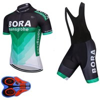 Wholesale cycling jersey bib shorts blue for sale - UCI BORA team men short sleeve cycling jersey Tour de France ropa ciclismo bicycle clothing bike clothes bib shorts set