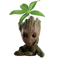 Wholesale Red Figurine - Guardians of the Galaxy Avengers Groot Flowerpot Action Figures Home Decoration Toy PVC Hero Creative Craft Figurine DDA358