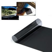 araba derecelendirmesi toptan satış-Anti-Uv oranı Araba Pencere Güneş Koruma Filmi Cam Güneş Gölge Otomatik Pencere Araba Çıkartmaları Siyah Oto Aksesuarları