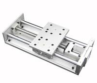 slides lineares venda por atacado-Guia Linear Estágio Cruz Mesa Deslizante Elétrica L-300mm Ballscrew Mesa De Trabalho Para Fresagem CNC Gravura Máquina De Perfuração