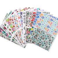 модели ногтей оптовых-BORN PRETTY 1 Sheet 2 Patterns Water Decals DIY Nail Art Transfer Stickers Nail Decoration Tools 15 Themes Available