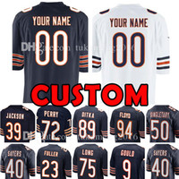 Wholesale custom bear - Custom Chicago Jersey Bear 23 Kyle Fuller 89 Ditka 50 Mike Singletary 75 Kyle Long 94 Leonard Floyd 9 Robbie Gould 39 Eddie Jackson 72 Perry