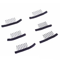 Wholesale Styled Full Lace Wigs - Wig Combs Black color for hair full lace wigs cap wire wig combs plastic combs convenient accessories styling tools