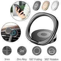 plaque de cellule achat en gros de-360 ° doigt anneau support support de téléphone support de bureau voiture plaque de métal magnétique téléphone portable supports détenteurs de smartphone