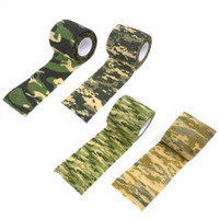 Wholesale wholesale fabric tape - Non Woven Fabric Adhesive Tape Self Adhered Telescopic Camouflage Tapes Resuable Elastic Outdoor Hunting Tools Hot Sale 2 8zs B