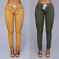ingrosso pantaloni scarni della matita-Jeans sexy a matita skinny elastica per donna Jeans a vita alta Jeans a vita alta Jeans donna a sezione sottile