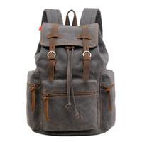 seyahat sırt çantası erkek çift omuz toptan satış-Banabanma Erkekler Sırt Çantası Moda Tuval Çift Omuz Sırt Çantası Bilgisayar Çantası Büyük Kapasiteli Seyahat Erkekler ZK30 için Rahat Çantalar
