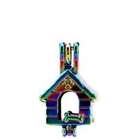 ingrosso diffusore per la casa-10 pz / lotto Arcobaleno Colore Dog House Bone Beads Cage Locket Pendant Diffusore Profumo Aromaterapia Oli Essenziali Diffusore