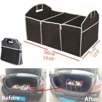 araba düzenli çantaları toptan satış-Saklama Torbaları Katlanabilir Araba Organizatör Boot Sayfalar Gıda Saklama Poşetleri Çanta Case Kutusu gövde organizatör Otomobil Stowing Tidying İç Acc BBA352