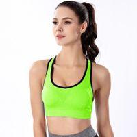 sütyen parfüm toptan satış-Kadın Spor Salonu Yoga Egzersiz Sutyen Çalışan Yastıklı Spor Tops Yelek lon Spandex Yastıklı Katı Spor bras Gym spor A7