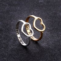 56883e86fa New Fashion Creative Engraved Letter ''Best Friend'' Rings Heart To Heart  Ring For Lovers Gold Silver Ring